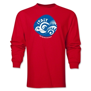 Italy 2014 FIFA World Cup Brazil(TM) Men's LS Icon T-Shirt (Red)