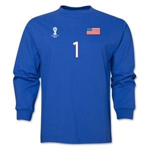 USA 2014 FIFA World Cup Brazil(TM) Men's LS Number 1 T-Shirt (Royal)