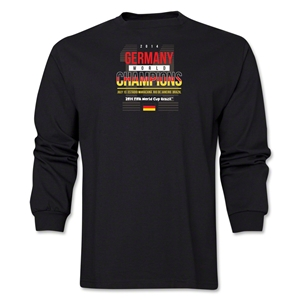 Germany 2014 FIFA World Cup Brazil(TM) Men's LS Champions 14 T-Shirt (Black)