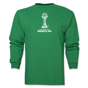 FIFA Club World Cup Morocco 2013 Official Emblem LS T-Shirt (Green)