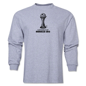 FIFA Club World Cup Morocco 2013 Official Emblem LS T-Shirt (Grey)