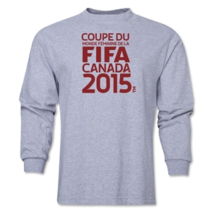 FIFA Women's World Cup Canada 2015(TM) French Logotype LS T-Shirt (Grey)