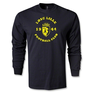 LOSC Lille Distressed Graphic LS T-Shirt (Black)