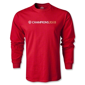 Manchester United 2013 Champions LS T-Shirt (Red)