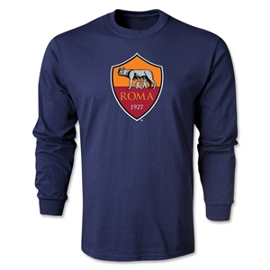 AS Roma Crest LS T-Shirt (Navy)