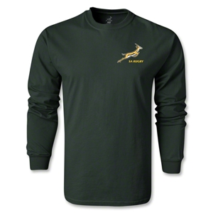 South Africa Springboks Logo LS T-Shirt (Dark Green)