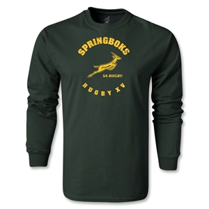 South Africa Springboks Rugby 15 LS T-Shirt (Dark Green)