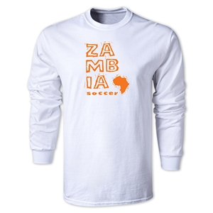 Zambia LS Country T-Shirt (White)