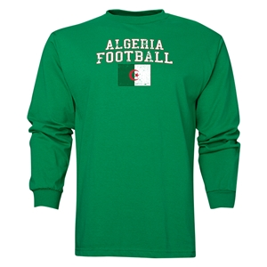 Algeria LS Football T-Shirt (Green)