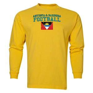 Antigua & Barbuda LS Football T-Shirt (Yellow)