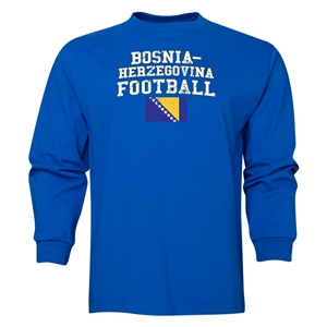 Bosnia-Herzegovina LS Football T-Shirt (Royal)