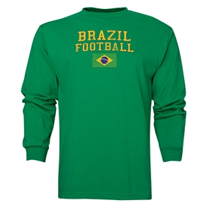 Brazil LS Football T-Shirt (Green)