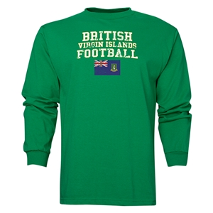 British Virgin Islands LS Football T-Shirt (Green)