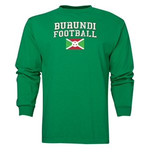 Burundi LS Football T-Shirt (Green)