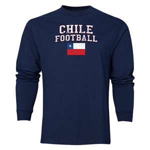 Chile LS Football T-Shirt (Navy)