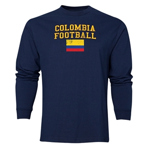 Colombia LS Football T-Shirt (Navy)