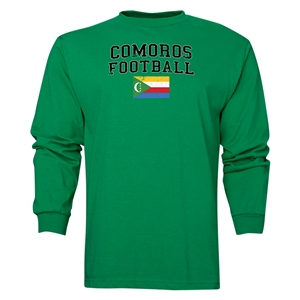Comoros LS Football T-Shirt (Green)
