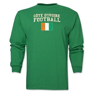 Cote d'Ivoire LS Football T-Shirt (Green)
