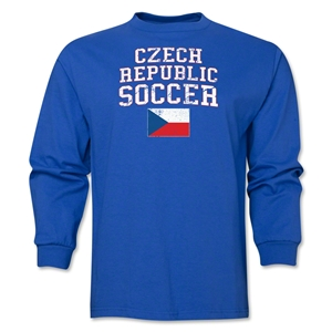 Czech Republic LS Soccer T-Shirt (Royal)