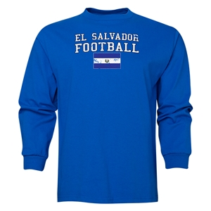 El Salvador LS Football T-Shirt (Royal)