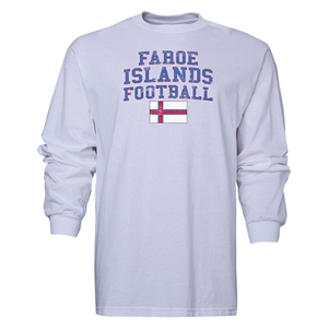 Faroe Islands LS Football T-Shirt (White)
