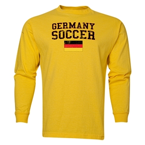 Germany LS Soccer T-Shirt (Yellow)