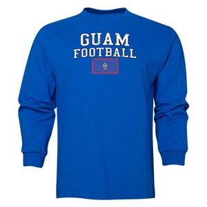 Guam LS Football T-Shirt (Royal)