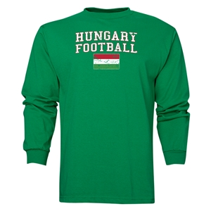 Hungary LS Football T-Shirt (Green)