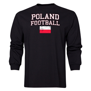 Poland LS Football T-Shirt (Black)