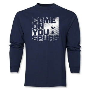 Tottenham Come On You Spurs LS T-Shirt (Navy)