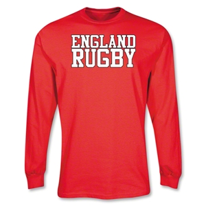 England Supporter LS Rugby T-Shirt (Red)