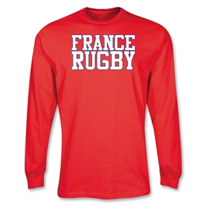 France Supporter LS Rugby T-Shirt (Red)