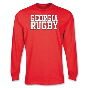 Georgia Supporter LS Rugby T-Shirt (Red)