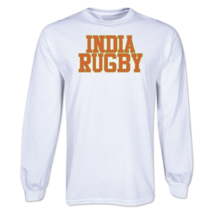 India Supporter LS Rugby T-Shirt (White)