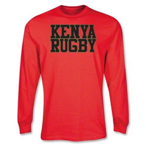 Kenya Supporter LS Rugby T-Shirt (Red)