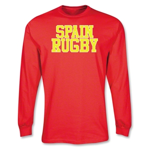 Spain Rugby Supporter LS T-Shirt (Red)