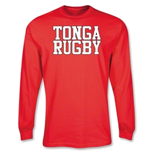 Tonga Rugby Supporter LS T-Shirt (Red)
