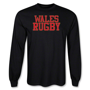 Wales Rugby Supporter LS T-Shirt (Black)