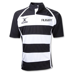 Gilbert RUGBY Xact Hooped Rugby Jersey (Black/White)