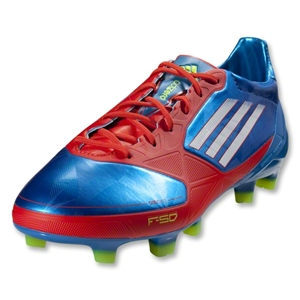adidas F50 adiZero TRX FG KIDS Synthetic Cleats (Blue/White/Core Energy)