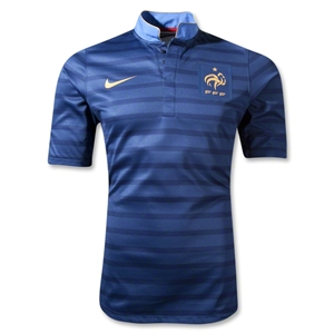France Authentic 12/14 Home Soccer Jersey