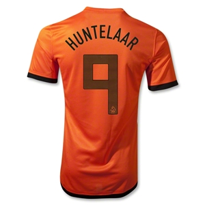 Netherlands 12/14 HUNTELAAR Authentic Home Soccer Jersey