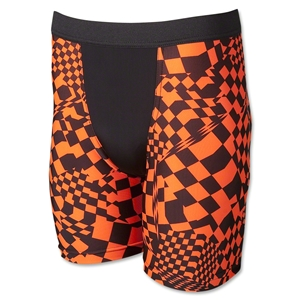 Men's Orange Racing Compression Short (Org/Blk)