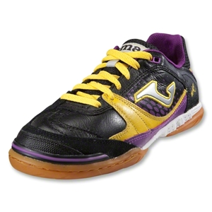 Joma Sala Max Indoor Soccer Shoes (Black/Yellow/Purple)