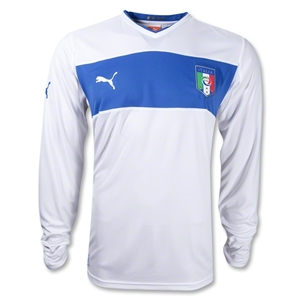 Italy 12/14 Long Sleeve Away Soccer Jersey