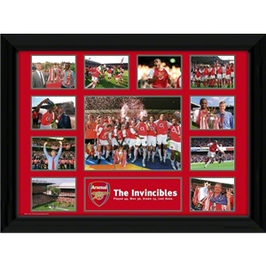 Arsenal 16 x 12 Framed Invincibles Poster