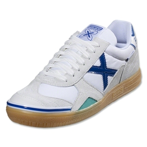Munich Gresca Indoor Shoe (White/Blue)