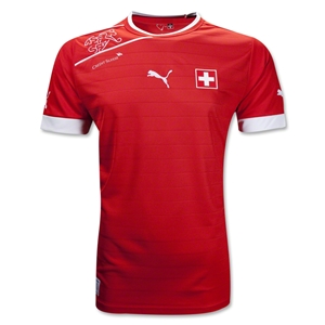 Switzerland 12/13 Home Soccer Jersey