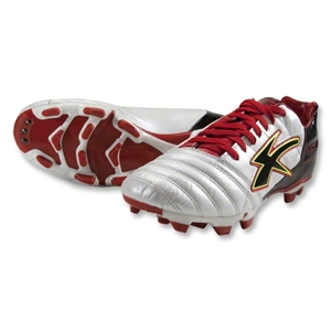 Concord Techno Kangaroo Soccer Shoes (White/Red/Black)