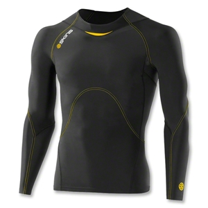 Skins A400 Long Sleeve Top (Blk/Yellow)